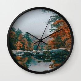 The Autumn Creek (Color) Wall Clock