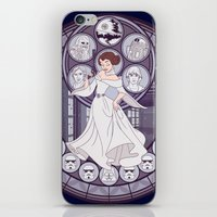 leia iPhone & iPod Skins featuring Leia by NicoleGrahamART