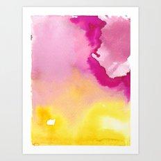 Magical Lemon Raspberry Souffle Art Print