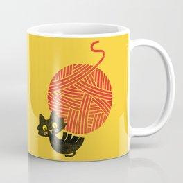 Fitz - Happiness (cat and yarn) Coffee Mug