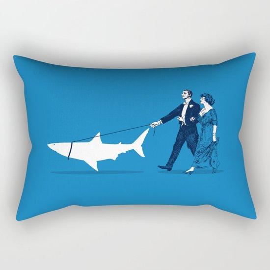 Walking the Shark Rectangular Pillow