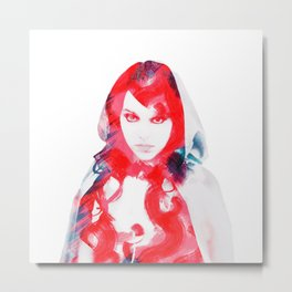 little red Metal Print