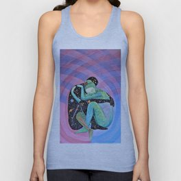 Space Earth Love Painting Nature Soul Mates Couple Wedding Art Tapestry (Infinite Love) Unisex Tank Top