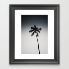 palm tree ver.black Framed Art Print