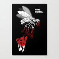 politics Canvas Prints featuring INSECT POLITICS by BeastWreck