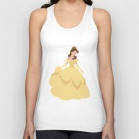 belle Tank Tops featuring Belle by Dewdroplet