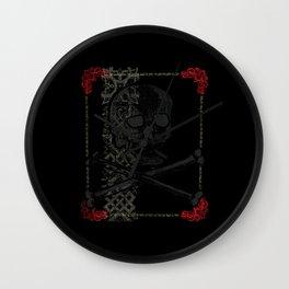 Los Muertos ^ 009 ^ Skull art Wall Clock