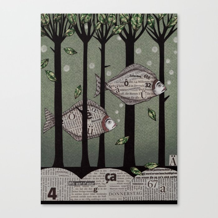 A Fishy Story Canvas Print
