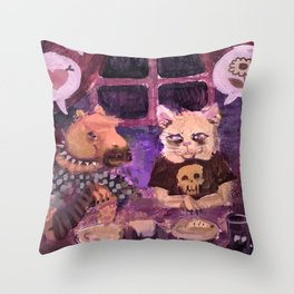emos on a date Throw Pillow