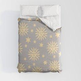 Mid Century Modern Sun and Star Pattern 229 Comforters