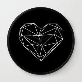 Empty Heart White Wall Clock