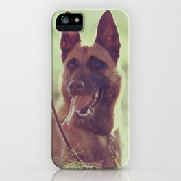 Malinios Beauty dog picture iPhone Case