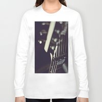 guitar Long Sleeve T-shirts featuring guitar by monicamarcov