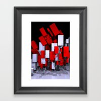 boxes for curtains and more Framed Art Print