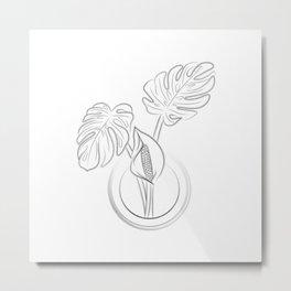 Monstera Deliciosa Plant Metal Print