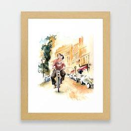 """Scene from """"Amelie"""" Framed Art Print"""