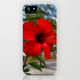 Red Flower Bloom iPhone Case