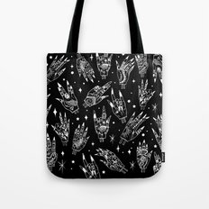 Floating Witchy Goth Hands Tote Bag