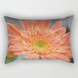 Barbeton Apricot-Melon Daisy Rectangular Pillow