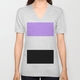 Just three colors 6 purple,white,black Unisex V-Neck