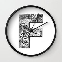 Cutout Letter F Wall Clock