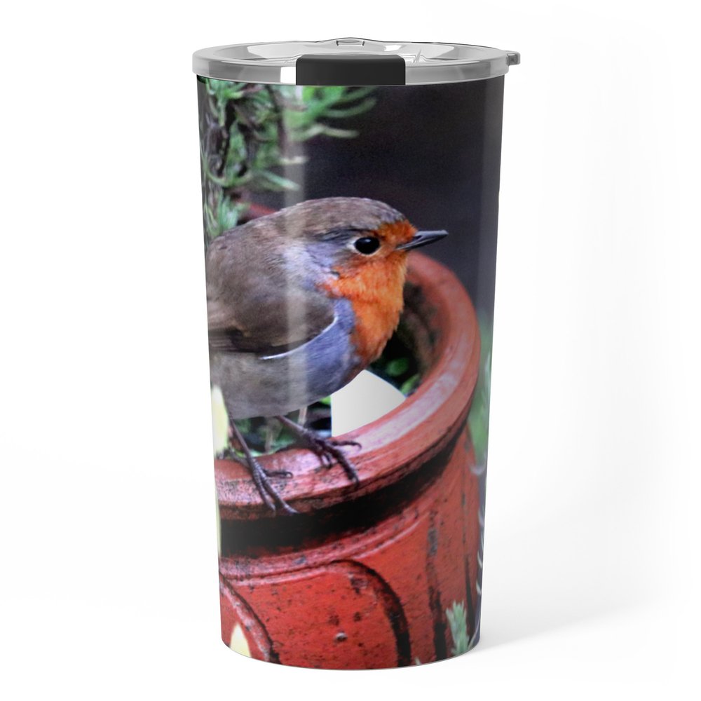 Robin Redbreast Travel Mug by bryanwb (TRM10633414) photo