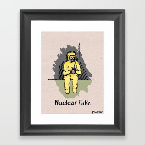 Nuclear Fish'n Framed Art Print