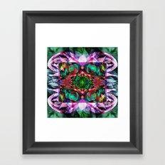 Acid Rose Framed Art Print