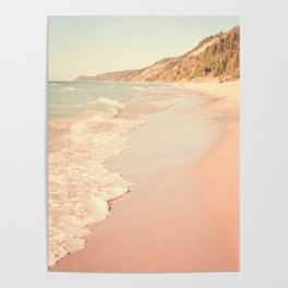 Her Mind Wandered Back and Forth With the Waves Poster