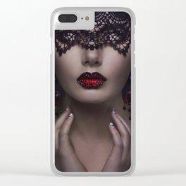Dark Beauty Clear iPhone Case
