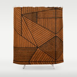 Triangle patten Shower Curtain