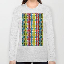 Graphic retro weave Long Sleeve T-shirt