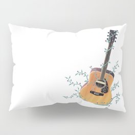 Acoustic Guitar with Vines Illustration  Pillow Sham