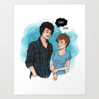 the fault in our stars Art Prints featuring The Fault In Our Stars by Laia™