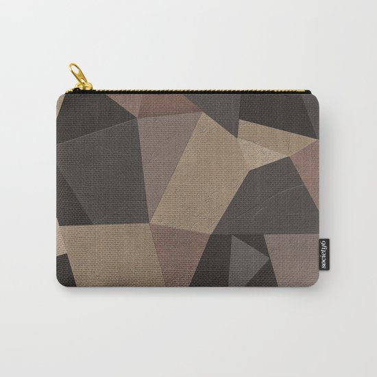 Brown pattern . Leather patches . Carry-All Pouch