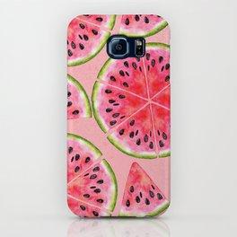 pink watermelon pattern iPhone Case
