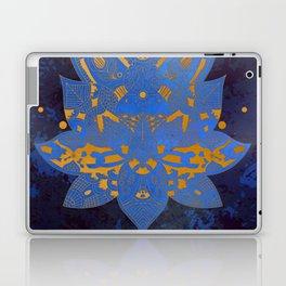 Elegance Mandala Metallic Royal Blue Gold Laptop & iPad Skin