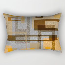 Mid Century Modern Blocks on Gray Rectangular Pillow