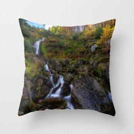 Waterfall in Ireland (RR 253) Throw Pillow