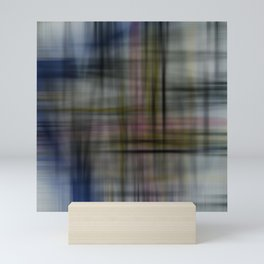 Deconstructed Abstract Scottish Plaid Pattern Mini Art Print