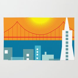 San Francisco, California - Skyline Illustration by Loose Petals Rug