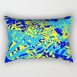 Happy Blue Yellow Green Foliage Rectangular Pillow