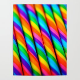 Rainbow Candy : Candy Canes Poster