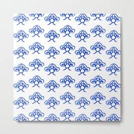 Blue China. Metal Print