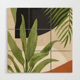Abstract Art Tropical Leaf 11 Wood Wall Art