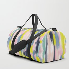 Abstract Brush Stroke Art in Modern Color Palette Duffle Bag