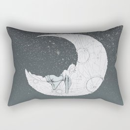 Sleeping Moon Rectangular Pillow