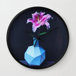 Flower offering forgiveness Wall Clock
