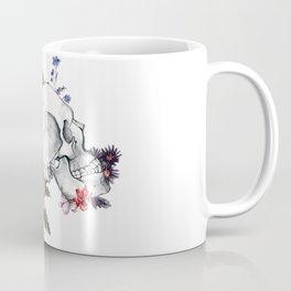 Roses Skull - Death's head Coffee Mug
