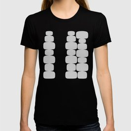 Abstraction_Balance_ROCKS_BLACK_WHITE_Minimalism_001 T-shirt